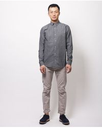 Comune | Wright Ls Shirt - Soft Black | Lyst