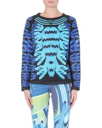 Mary Katrantzou Perforated Graphic-print Sweatshirt - Lyst