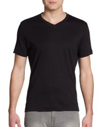 Robert Barakett - Georgia V-neck Pima Cotton Tee - Lyst