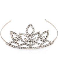 Saint Laurent - Crystal-embellished Tiara - Lyst