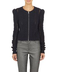Isabel Marant Gently Zip-Front Cardigan black - Lyst