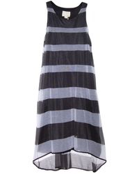 Band of Outsiders Sheer Stripe Sweater Dress - Lyst