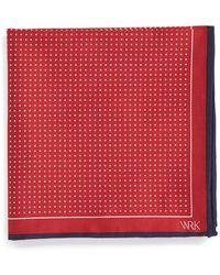 W.r.k. Dot Silk Pocket Square - Lyst
