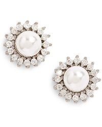 Samantha Wills - 'distance Of Dawn' Faux Pearl Stud Earring - Lyst