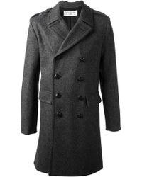 Saint Laurent Classic Caban Coat - Lyst