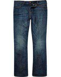 River Island | Dark Wash Clint Bootcut Jeans | Lyst