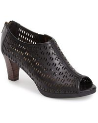 Bella Vita 'Lake' Perforated Leather Bootie - Lyst