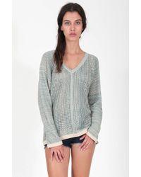 Goddis Nahla V Neck Sweater green - Lyst