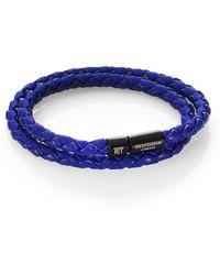 Tateossian Woven Leather Bracelet - Lyst