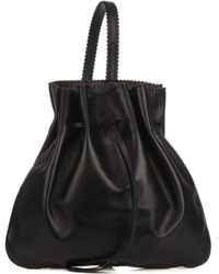 Rochas Tilda Leather Backpack black - Lyst