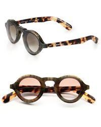 Burberry | 42mm Round Acetate Sunglasses | Lyst