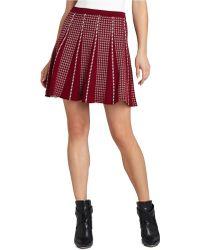 BCBGMAXAZRIA Yaz Piping Trim A Line Skirt - Lyst
