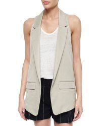 Rag & Bone Ines One-Button Vest beige - Lyst
