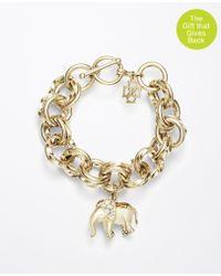 Ann Taylor Elephant Charm Bracelet - Lyst
