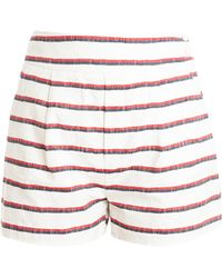 Band of Outsiders High Waisted Shorts multicolor - Lyst