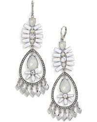 Kent & King - Crystal Chandelier Earrings - Lyst