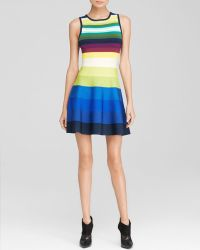 Karen Millen Rainbow Stripe Knit Dress - Bloomingdale'S Exclusive - Lyst