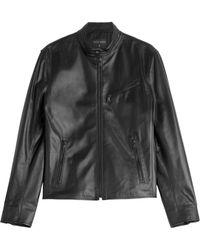 Ralph Lauren Black Label Leather Jacket - Lyst