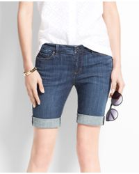 Ann Taylor Petite Denim Walking Shorts - Lyst