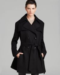 Via Spiga Coat - Double-Breasted Belted - Lyst