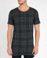 Minimum | Grey Teller Blended Check Round-neck T-shirt | Lyst