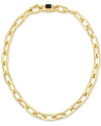Vince Camuto - Gold-tone Oval Link Collar Necklace - Lyst