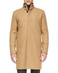 Theory Belvin Wool-Blend Coat - Lyst