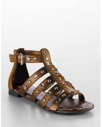 DV by Dolce Vita David Jeweled Leather Gladiator Sandals - Lyst