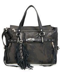 Ash - 'camo Astor' Leather Satchel - Lyst