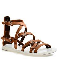 Balenciaga 'Papier' Calfskin Leather Gladiator Sandal - Lyst