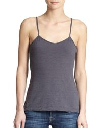 James Perse Cotton Camisole gray - Lyst