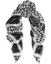 Karl Lagerfeld Printed Modal Scarf - Lyst