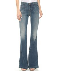 J Brand The Demi High Rise Flare Jeans - Ashbury - Lyst