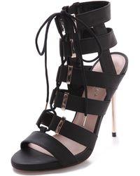 Carvela Kurt Geiger Gladiator Lace Up Sandals Black - Lyst