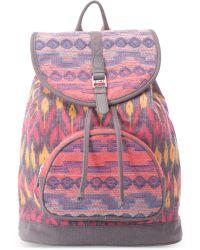 TOMS Magenta Ikat Mix Departure Backpack