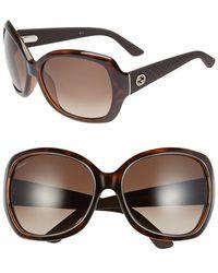 Gucci 61Mm Oversize Sunglasses - Lyst