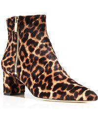 Diane von Furstenberg   Abbot Too Leopard Print Calf Hair Booties   Lyst