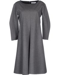 Jil Sander Short Dress - Lyst