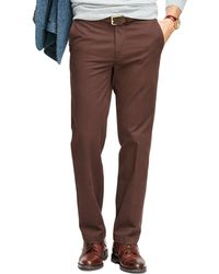 Brooks Brothers Clark Fit Vintage-finish Chinos - Lyst