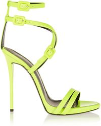 Giuseppe Zanotti Neon Leather Sandals - Lyst