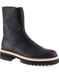 Ann Demeulemeester Welt Zip Boots Black - Lyst