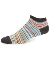 Paul Smith Multi-Stripe Ankle Socks - Lyst
