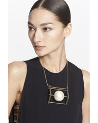 Lanvin Large Glass Pearl Necklace - Crystal - Lyst