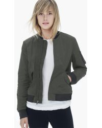 James Perse Military Bomber Jacket - Lyst