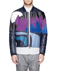 Kenzo Landscape Patchwork Suede Leather Bomber Jacket - Lyst