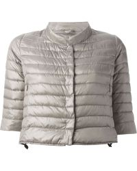 Duvetica Cropped Quilted Jacket - Lyst