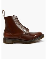 Dr. Martens Mens Tan Boanil Brush Leather Arthur Boots - Lyst