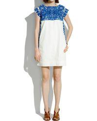 Madewell Casita Shiftdress blue - Lyst