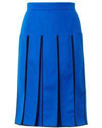 Kenzo Splitpanel Midi Skirt - Lyst