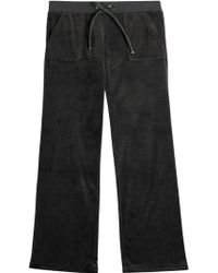 Juicy Couture Bling Velour Track Pants - Lyst